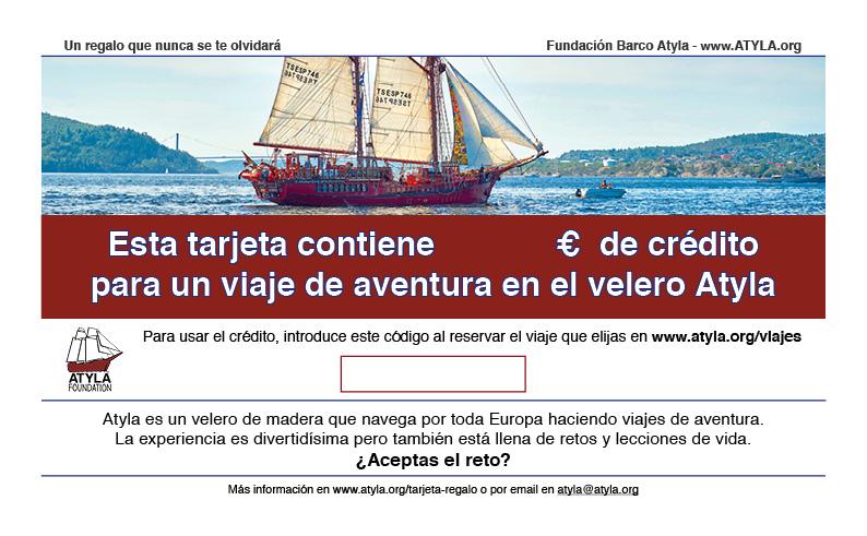 ESP Tarjeta De Regalo Barco Atyla
